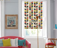 Roman Blinds in Multi Stem - Tomato, by Orla Kiely