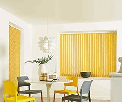 Vertical Blinds in Pico - Mustard, by Louvolite